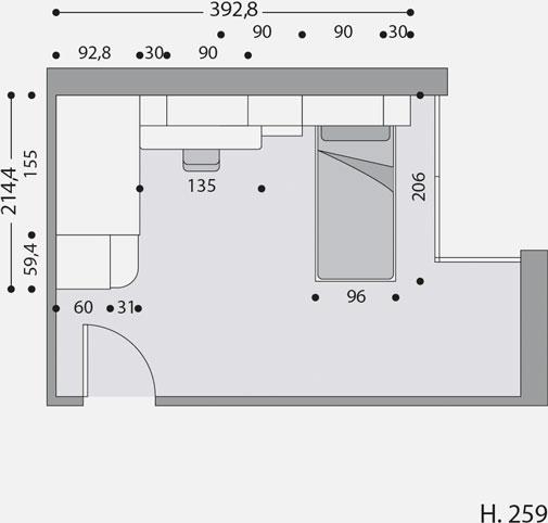 Cameretta 04 prodotti dueg arredi per ragazzi for Piantina cameretta
