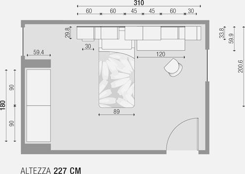 Cameretta 301 prodotti dueg arredi per ragazzi for Piantina cameretta